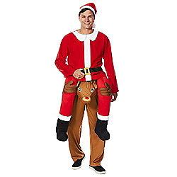 Ride On Reindeer Santa Claus Fancy Dress Costume £20 C&C Tesco