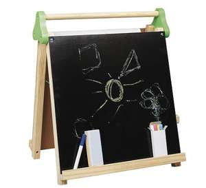 Kids Table Top Easel - Chalkboard / Whiteboard with chalks, paper & Whiteboard marker £7.99 with Free C&C @ Tesco