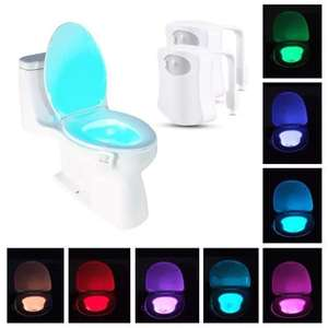 I like to do my little bit for christmas - 8 Color Motion Sensing Automatic Bog Night Light 2PC £6.77 @ Gearbest