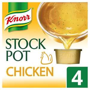 Knorr Chicken Stock Pot (+ Other Varieties as stocked (4 x 28g) Half Price was £1.45 now 72p @ Tesco