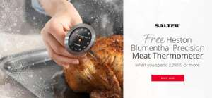 Free Salter Heston Blumenthal Meat Thermometer on orders of £29.99 and over @ Salter