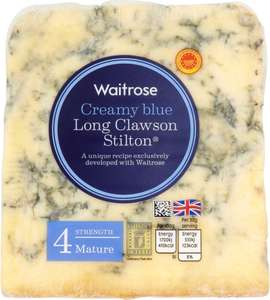 Waitrose Creamy Blue Mature Long Clawson Stilton Cheese, (Strength 4) (227g) / Waitrose Creamy Blue Long Clawson Mature Shropshire Cheese, (Strength 4) (227g) One pack for £2.70 or 2 Packs for £4.00
