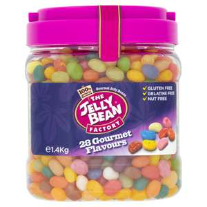 The Jelly Bean Factory (28 Gourmet Flavours Jelly Beans = 1.4kg) ONLY £9.00 @ Iceland