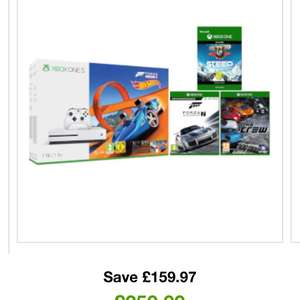 XBOX ONE S 1TB WITH FORZA HORIZON 3 HOT WHEELS BONUS BUNDLE WITH FORZA 7, STEEP AND THE CREW at Zavvi free delivery