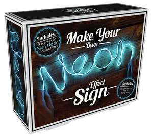 Make Your Own Neon Effect Sign in Blue - Half price, just £7.49 from Argos!