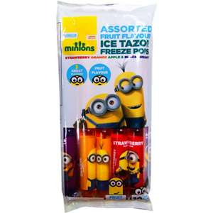Minions Ice Tazor Freeze Pops (10 x 75ml) ONLY £1.00 + Lots of other Soft and Fizzy Fruit Drinks @ Poundstretcher