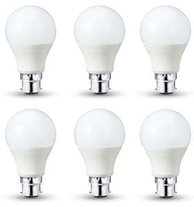 AmazonBasics LED Bulb B22, 10.5W to 75W, 1,055 lumens, Dimmable - Pack of 6 - £12.13 + del / Prime @ Amazon