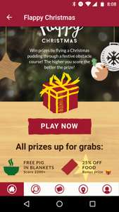Discounts In-App with Flappy Christmas game at Harvester, Toby Carvery, Vintage Inns + more! (Mitchell's & Butler's)