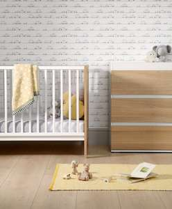 Mamas & Papas Cooper 2 Piece Nursery Furniture Set - Oak/White £218.95