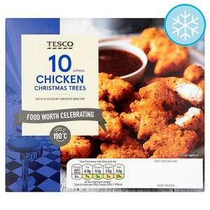 Tesco Chicken Christmas Trees With A BBQ Dip £2 each or 3 for £5 at Tesco