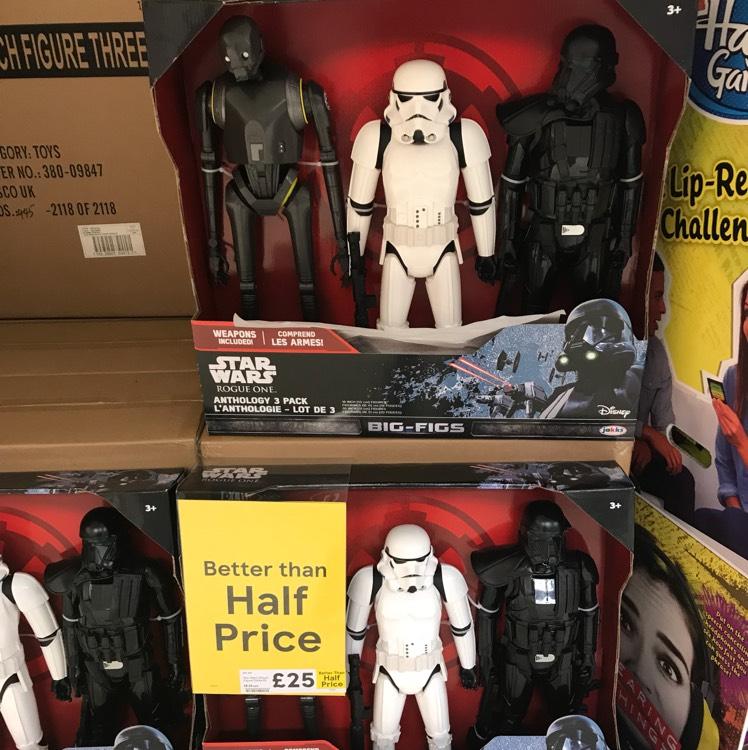 Star Wars Big-Figs 3 Pack £25 Tesco