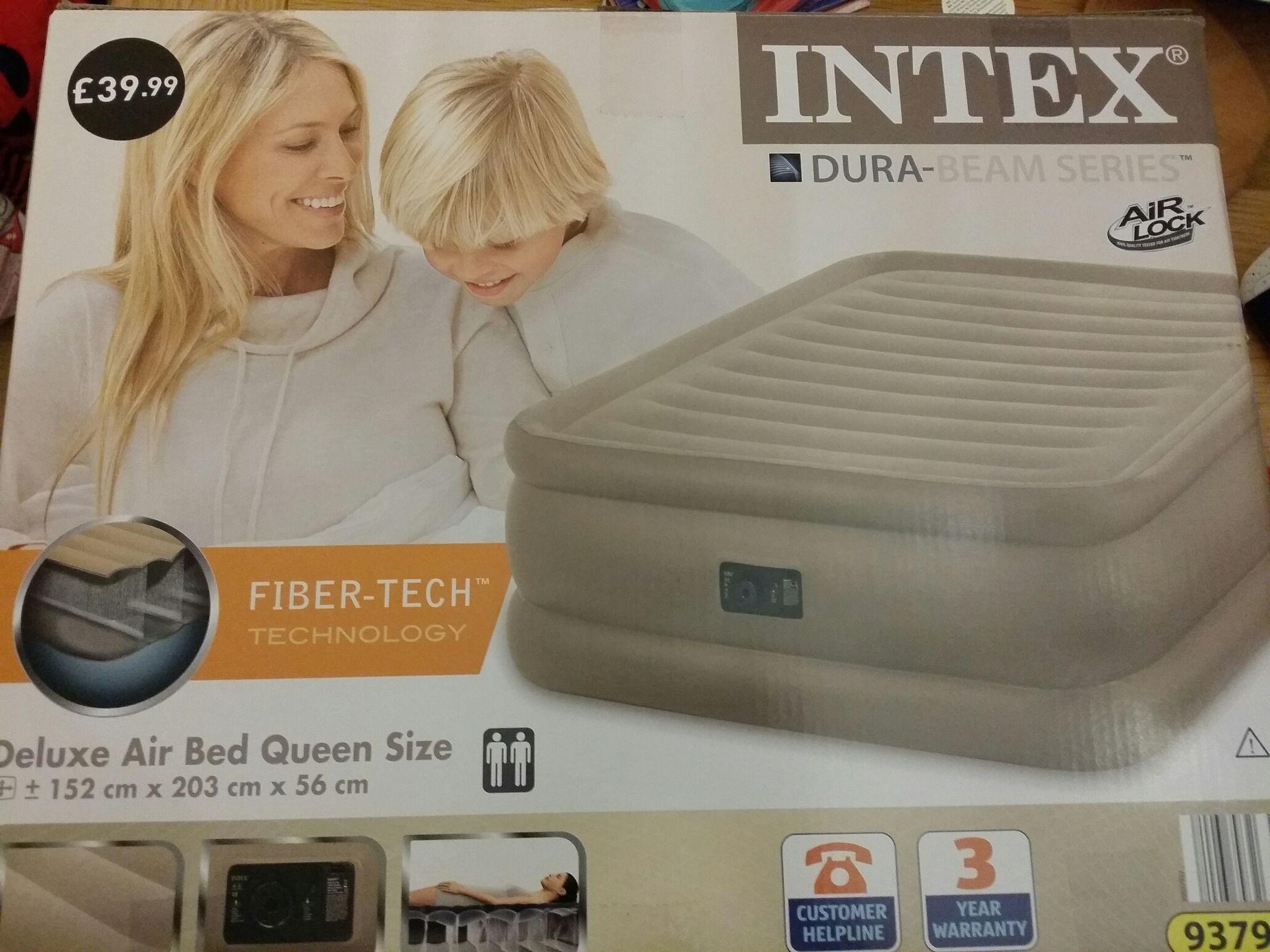 Intex Deluxe Air Bed Queen Size & built-in pump £12.99 @Aldi in-store