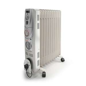 Vax Power Heat 2500w Oil Filled Radiator with timer and Turbo Fan - £39.99 + Free Delivery