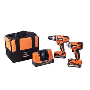 AEG Twin  battery drill pack with 6 year warranty from Homebase £149 @ Homebase
