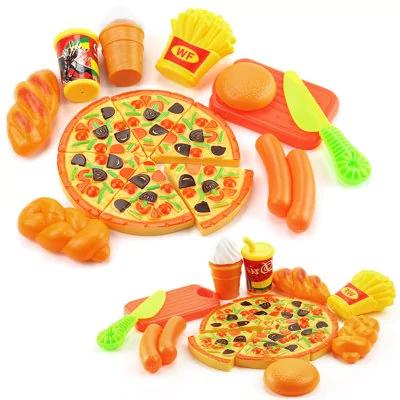 15PCS Plastic Food Pizza Kitchen Pretend Play Toy 62p @ GearBest