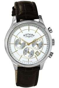 Rotary Men's Silver Dial Two Tone Brown Strap Wrist Watch...Waterproof £39.99 @ Argos Ebay