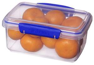 Sistema KLIP IT Food Storage Container, 1 L - Clear with Blue Clips £1.63 Add On @ Amazon