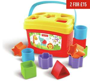 Fisher-Price Baby's First Blocks (was £10.99) Now £5.50 C+C @ Argos  ( also Fisher-Price Bright Beats Beatbo Buggies £5.50)