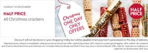 Half price xmas crackers on Sunday 10th December daily deal @ Waitrose
