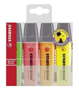 Stabilo Boss Original Highlighters Pack of 4 Assorted Colours. £1.82 (Add-on Item) @ Amazon