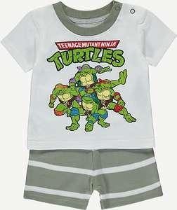 Teenage Mutant Ninja Turtles Baby T-shirt and Shorts Set Was £5 Now £3 Free C&C @ Asda George