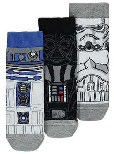 3 Pack Kids Star Wars Socks Was £4 Now £2 Free C&C @ Asda George