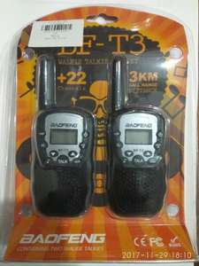2 X BAOFENG BF - T3 Wireless Walkie Talkie £11.13 delivered @ gearbest