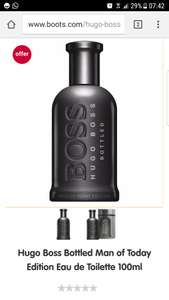 Hugo Boss Bottled Man of Today edition 100ml edt  star gift £37.00 @boots.com