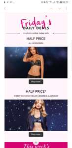 Half Price at Debenhams, Nine by Savannah Miller and wonderbra