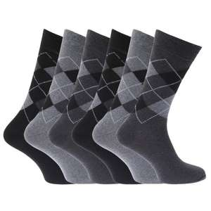 Mens Pattern Cotton Blend Argyle Socks (Pack Of 6) £4.19 Del @ Amazon (Dispatched from and sold by carmen fucia)