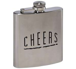 Scott & Lawson 6oz Stainless Steel Hip Flask - £4.99 Argos