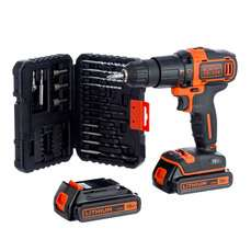 Black & Decker 18V Cordless Combi Drill with 2 Batteries and 32-Piece Accessory Kit £59.99 (Using code) @ Robert Dyas