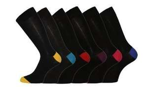 6 Pk Mens Pierre Calvini Cotton Contrast Heel Sock £3.60 Del @ Amazon (Dispatched from and sold by stansbargains)