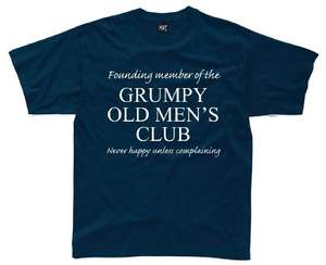 GRUMPY OLD MEN'S CLUB medium T-shirt 99p delivered Prime / £5.74 Non Prime @ Amazon (Sold by Direct 23 Ltd and Fulfilled by Amazon)