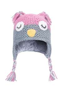 Make your kid look like a twit---twooo, Owl Knitted Kids Hat £6.79 Del w/code @ Mountain Warehouse