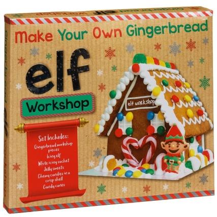 Elf gingerbread workshop instore at B&M for £4.99
