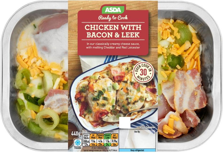 ASDA Ready to Cook Chicken with Bacon & Leek (440g) ONLY £3.65 @ Asda