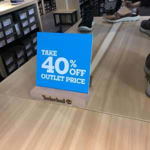 Timberland outlet Wembley 40% off marked price
