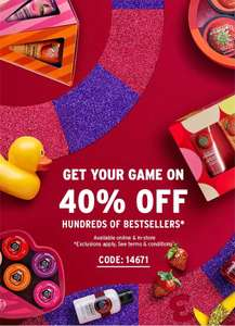 Sml Glitch - 40% Off Nearly Everything + Free Delivery on orders over £5 (but works on price before discount) @ The Body Shop eg Mango Treats Gift Set £6 now £3.60 Del w/code - delivery is now only working on baskets of £5 after discounted, so expire