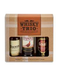 Whiskey Trio Miniatures Gift Set £4.99 + FREE Delivery @ Aldi