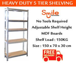 5 Tier Shelving Unit at Ebay/SmilePackaging for £17.49 delivered