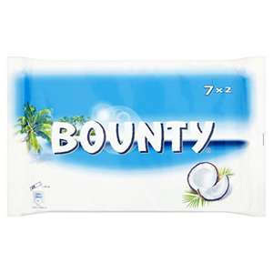 Bounty Chocolate Bar 7x2, 399g - £1.25 @ Amazon pantry (Prime exclusive)