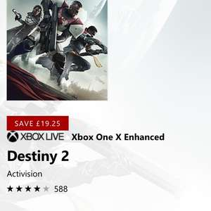 Destiny 2 Digi download on Xbox One - £35.74 @ Microsoft Store