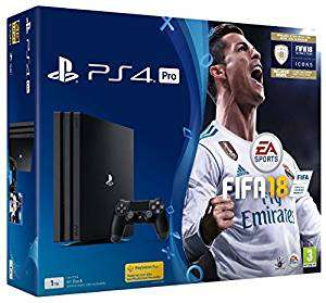USED Sony PlayStation 4 FIFA 18 Pro 1 TB with FIFA 18 Ultimate Team Icons and Rare Player Pack - £266.99 @ Amazon Warehouse
