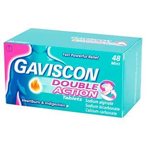Gaviscon Double Action Mint Tablets, Pack of 48 Tablets - £5.80 Prime / £9.79 non Prime @ Amazon
