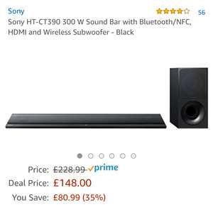 Sony HT-390 300 Watt Sound Bar with HDMI/Bluetooth - £148 Prime members only