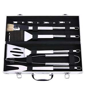 BBQ Grill Tools Set £15.39 + Free Delivery in the UK @ Sold by CYUK and Fulfilled by Amazon Prime (£19.38 non Prime)