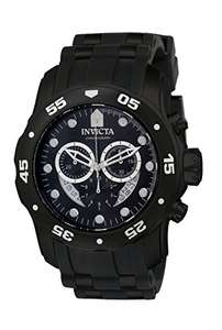 Invicta Men's Pro Diver Quartz Watch with Black Dial Chronograph Display and Black Plastic Strap 6986 - £57.16 @ Amazon