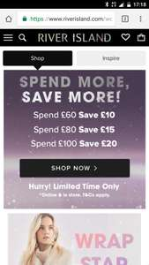 River island online and in-store sale