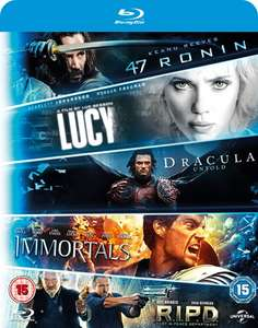 47 Ronin/R.I.P.D./Immortals/Dracula Untold/Lucy (Box Set) [Blu-ray] - £9 w/code @ Zoom